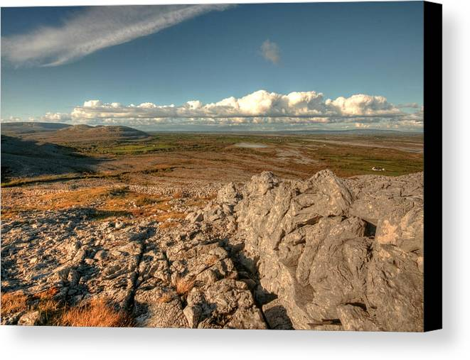 Burren Canvas Print featuring the photograph Beautiful Burren Landscape by John Quinn