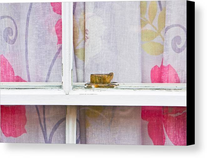 Apartment Canvas Print featuring the photograph Curtain by Tom Gowanlock