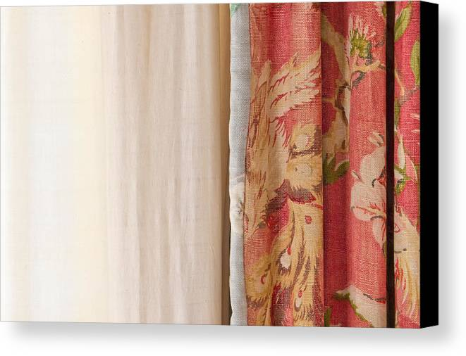 Blond Canvas Print featuring the photograph Curtains by Tom Gowanlock
