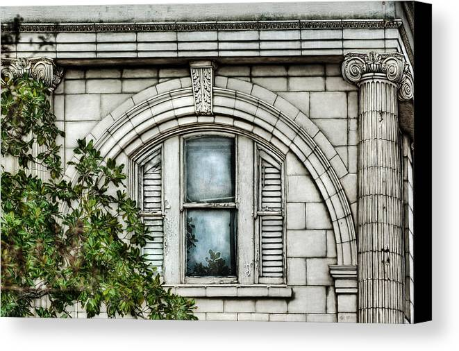 Window Canvas Print featuring the photograph Elegance In The French Quarter by Brenda Bryant