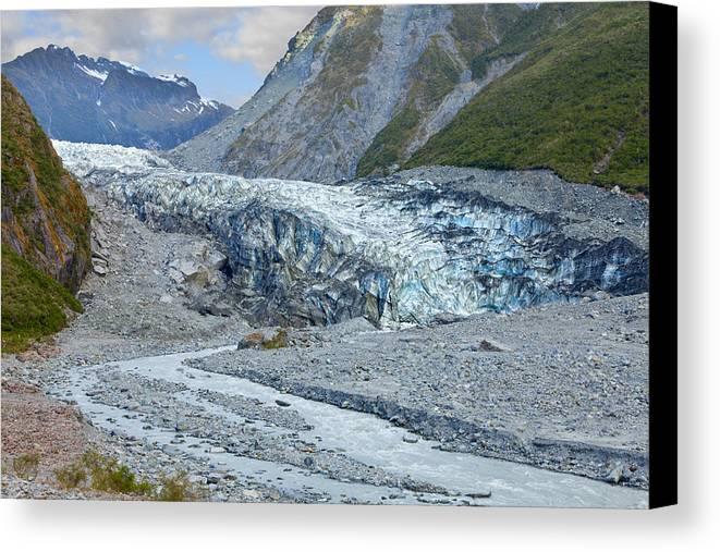 Glacier Canvas Print featuring the photograph Fox Glacier by Alexey Stiop