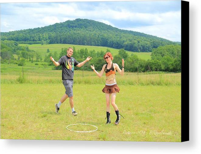 Frolic Rw2k14 Canvas Print featuring the photograph Frolic Rw2k14 by PJQandFriends Photography
