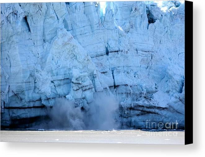 Glacier Canvas Print featuring the photograph Glacier Collapse by Sophie Vigneault