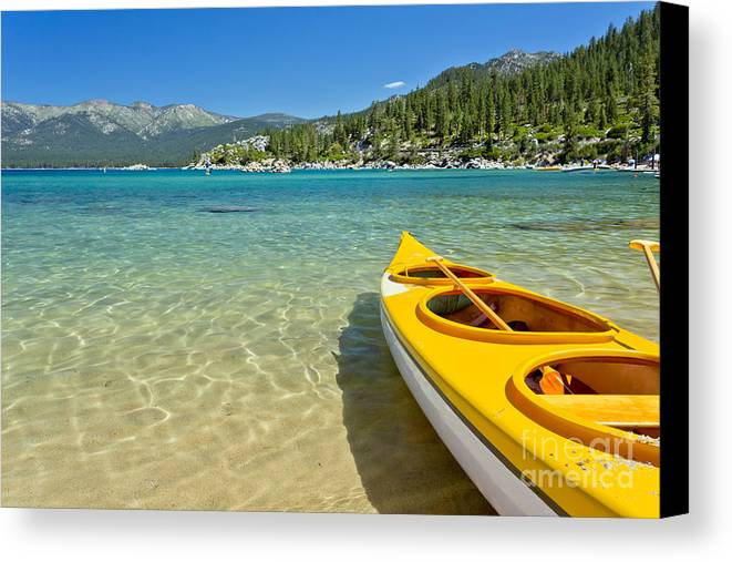 America Canvas Print featuring the photograph Lake Tahoe by Mariusz Blach