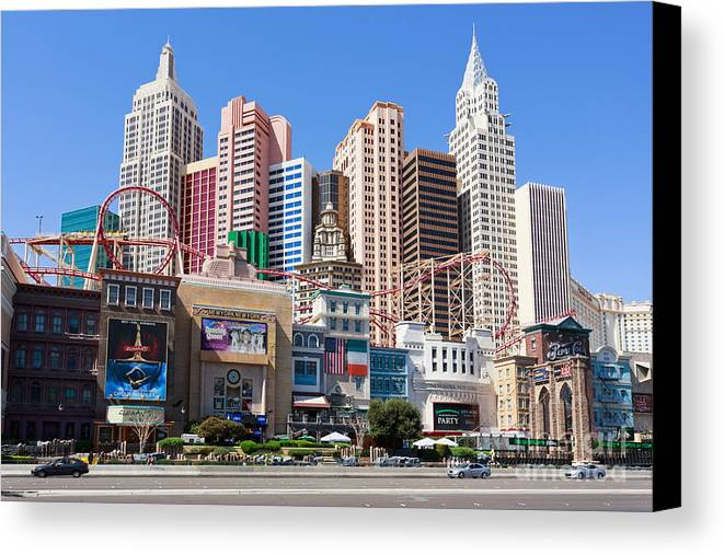 Architecture Canvas Print featuring the photograph New York New York Casino by Mariusz Blach