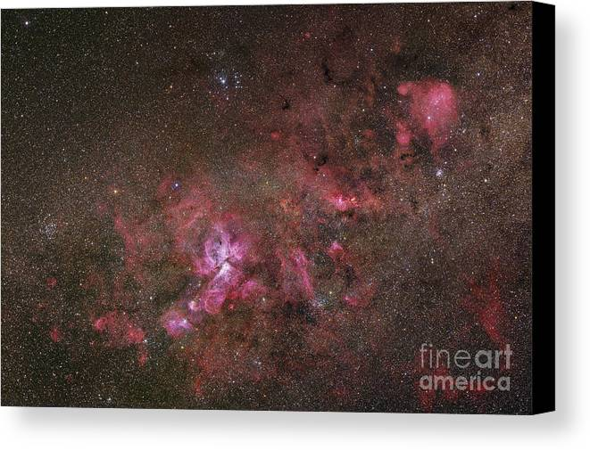 Universe Canvas Print featuring the photograph Ngc 3372, The Eta Carinae Nebula by Robert Gendler