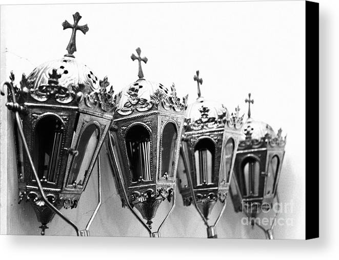 Lanterns Canvas Print featuring the photograph Religious Artifacts by Gaspar Avila