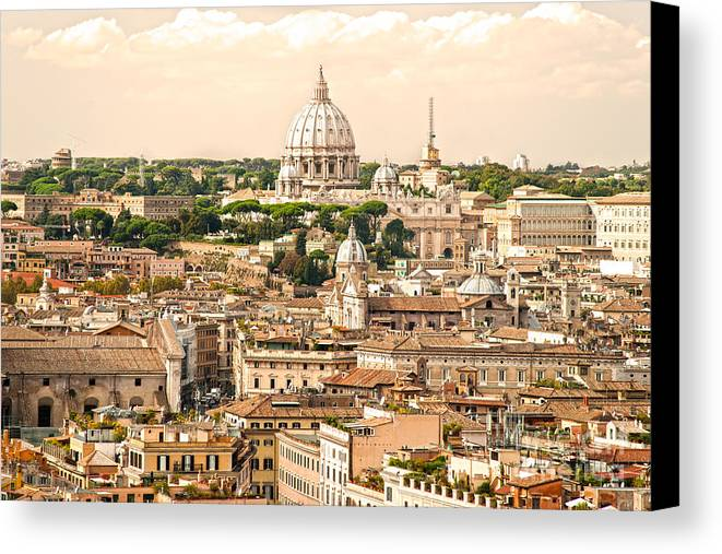 Pope Canvas Print featuring the photograph Rome - Italy by Luciano Mortula