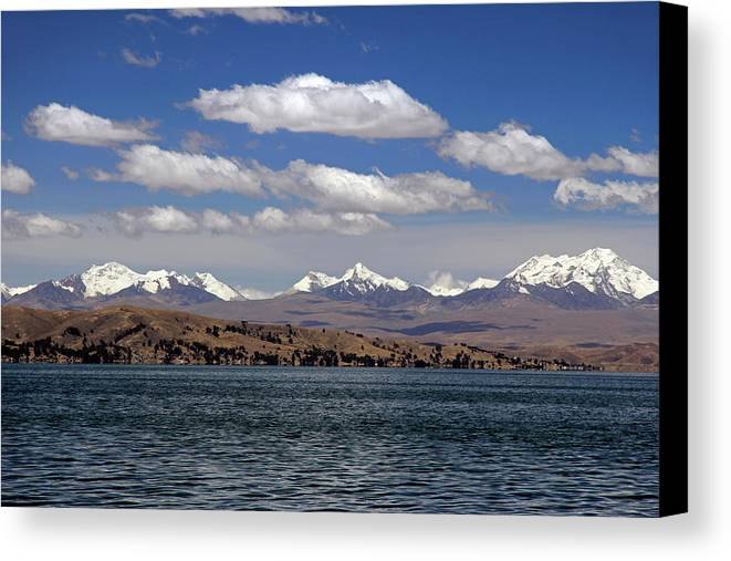 Andes Canvas Print featuring the photograph South America, Bolivia, Lake Titicaca by Kymri Wilt