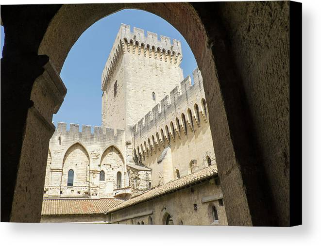 Arch Canvas Print featuring the photograph Southern France, Vaucluse, Provence by Emily Wilson