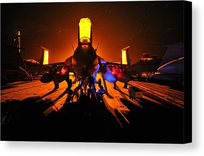 Canvas Print featuring the photograph Super Hornet by Paul Fearn