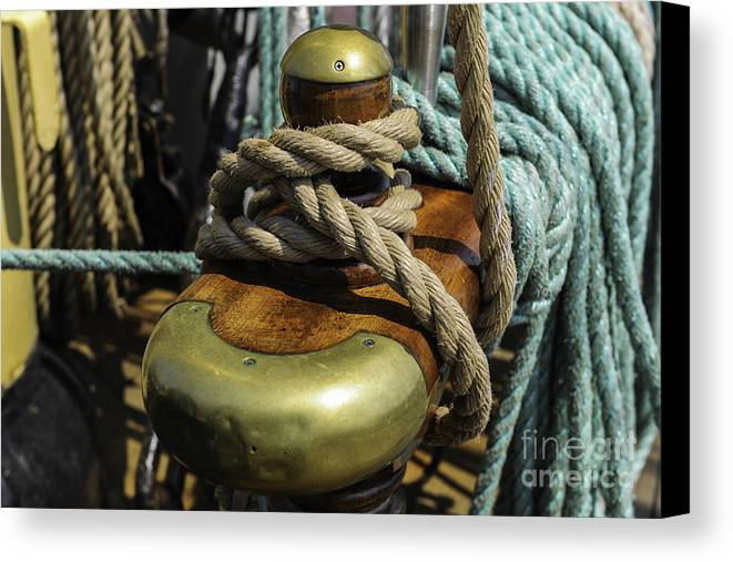 Tall Ship Canvas Print featuring the photograph Tall Ship Rigging by Dale Powell