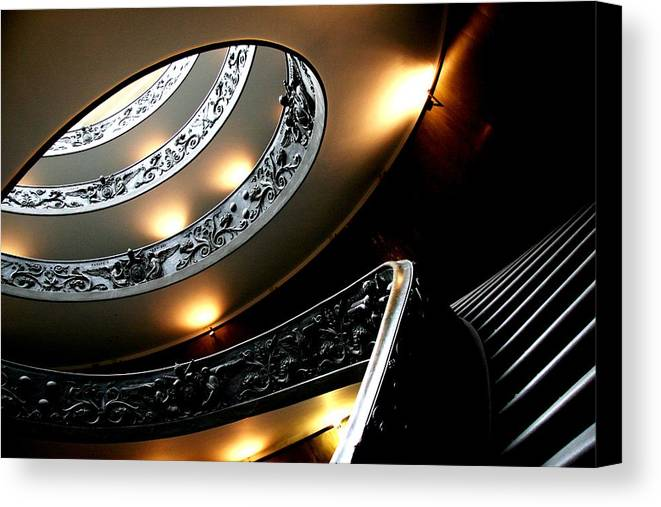 Rome Canvas Print featuring the photograph Vatican Stairs by David Miller