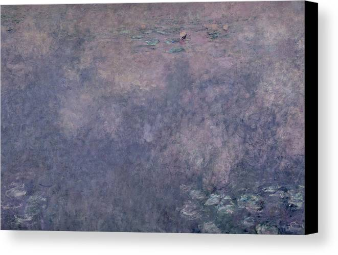 Impressionist Canvas Print featuring the painting Waterlilies Two Weeping Willows by Claude Monet