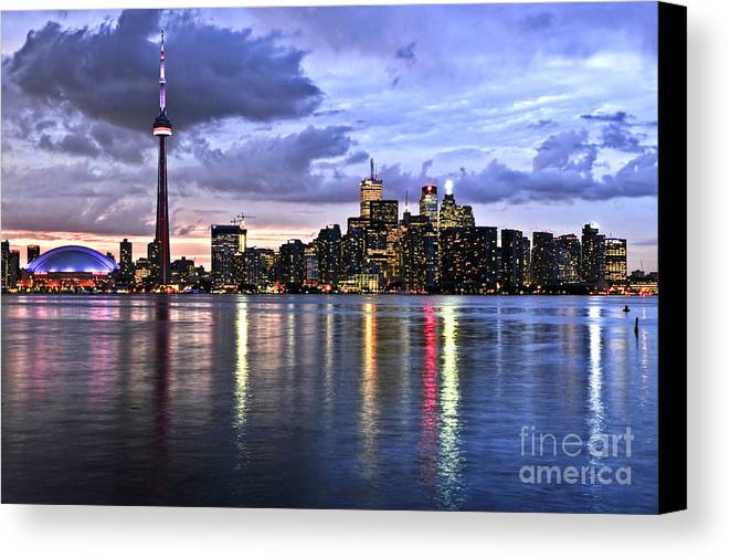 Toronto Canvas Print featuring the photograph Toronto Skyline by Elena Elisseeva