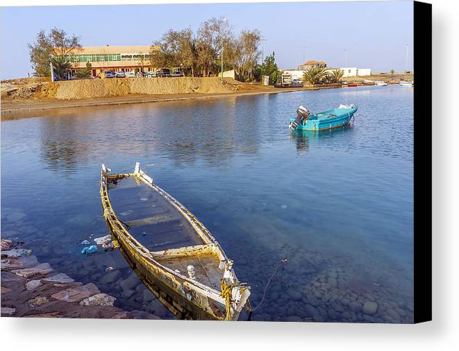 Landscape Canvas Print featuring the photograph Yanbu by Lik Batonboot