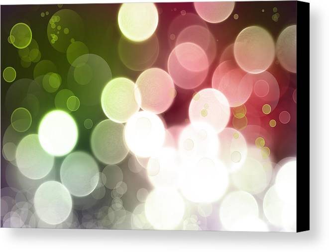 Green Canvas Print featuring the photograph Abstract Background by Les Cunliffe