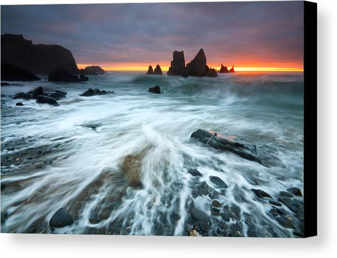 Great Britain Canvas Print featuring the photograph Cornwall by Milan Gonda