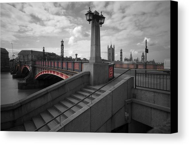 London canvas print featuring the photograph lambeth bridge thames london by david french
