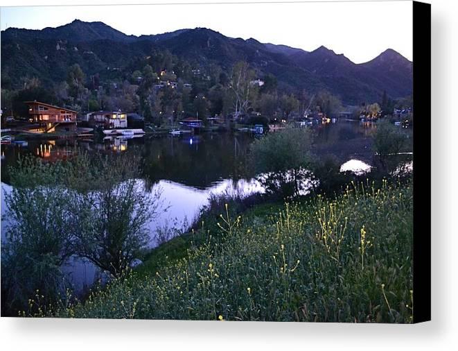 Malibu Canvas Print featuring the photograph Malibu Lake by Tommi Trudeau