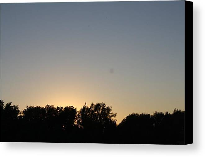 Sunset Canvas Print featuring the photograph Sunset by Catherine Dunn