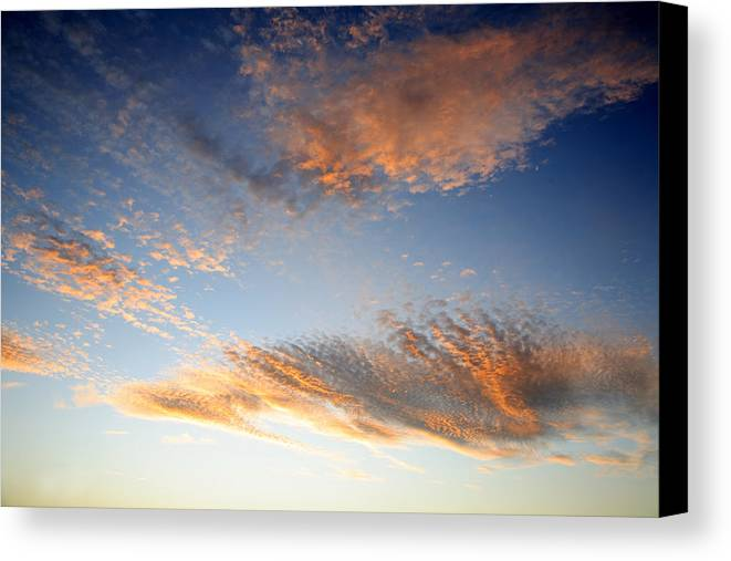 Abstract Canvas Print featuring the photograph Sunset Sky by Les Cunliffe
