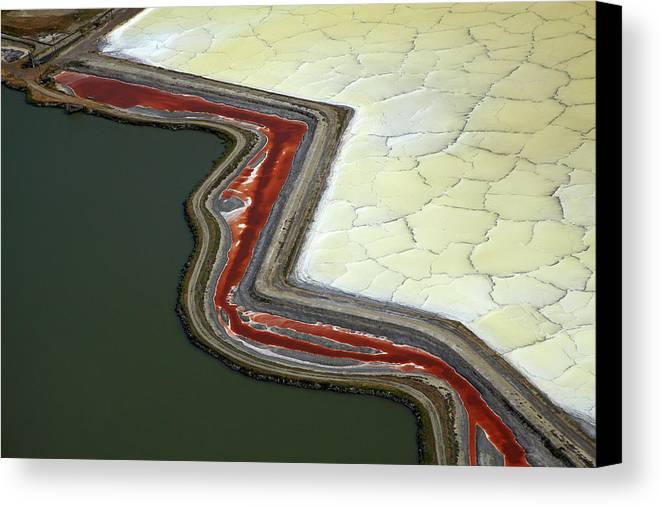 Aerial View Canvas Print featuring the photograph Usa, California, San Francisco by David Wall