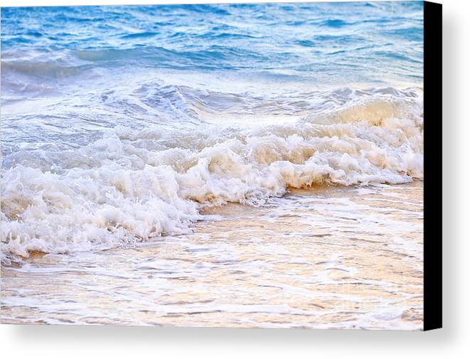 Caribbean Canvas Print featuring the photograph Waves Breaking On Tropical Shore by Elena Elisseeva