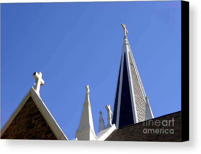 Harpers Ferry Canvas Print featuring the photograph 4 Crosses by Paul W Faust - Impressions of Light