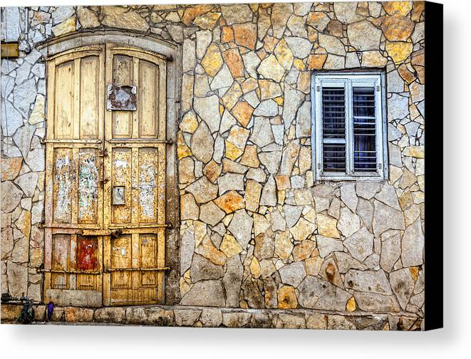 Israel Canvas Print featuring the photograph Doors Of Tel Aviv by Alexey Stiop