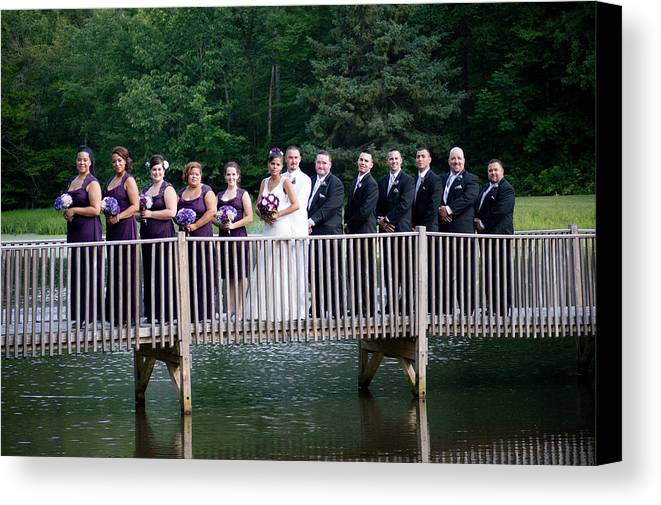 Canvas Print featuring the photograph Wed 7/2014 by Maria Pickard