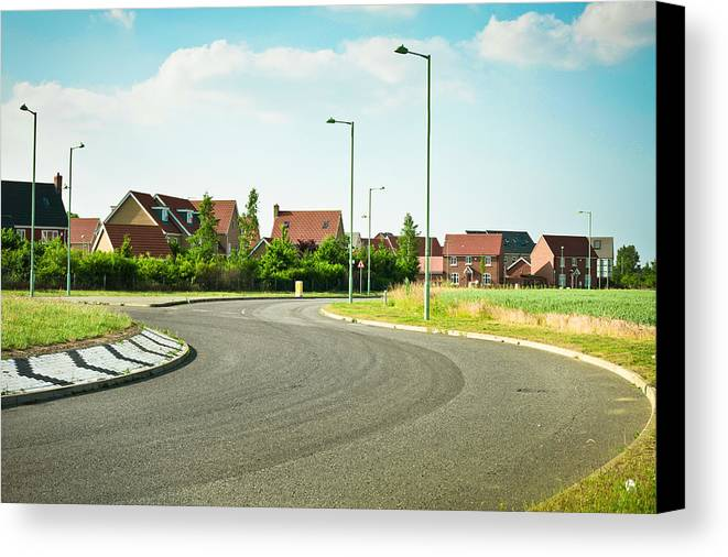 Asphalt Canvas Print featuring the photograph Modern Road by Tom Gowanlock