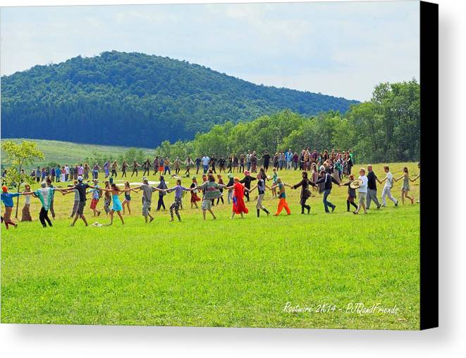 Opening Ceremony Rw2k14 Canvas Print featuring the photograph Opening Ceremony Rw2k14 by PJQandFriends Photography