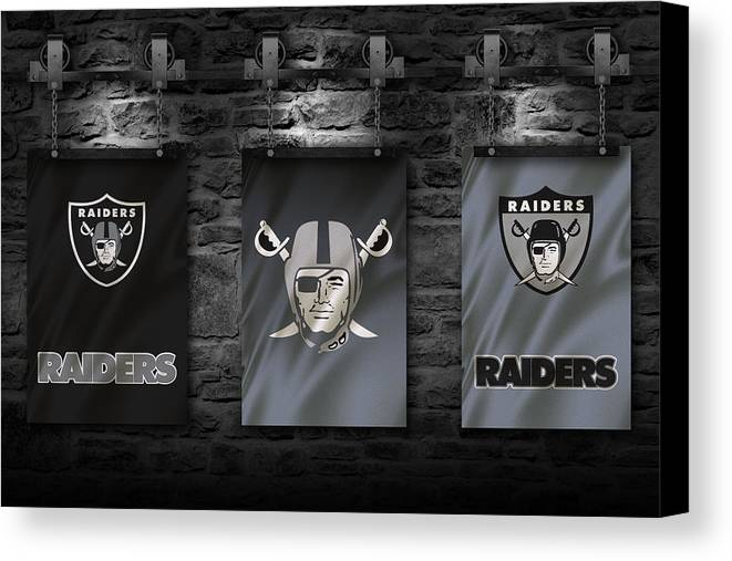 Oakland Raiders Canvas Print Canvas Art By Joe Hamilton