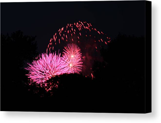 Washington Canvas Print featuring the photograph 4th Of July Fireworks - 011325 by DC Photographer