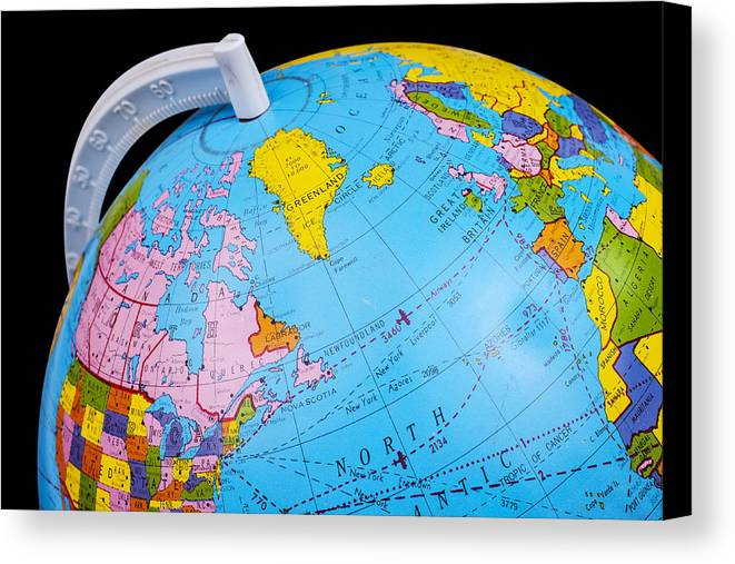 Old rotating world map globe canvas print canvas art by donald globe canvas print featuring the photograph old rotating world map globe by donald erickson gumiabroncs Gallery