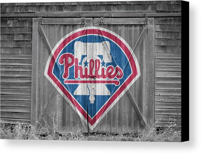 Phillies Canvas Print featuring the photograph Philadelphia Phillies by Joe Hamilton
