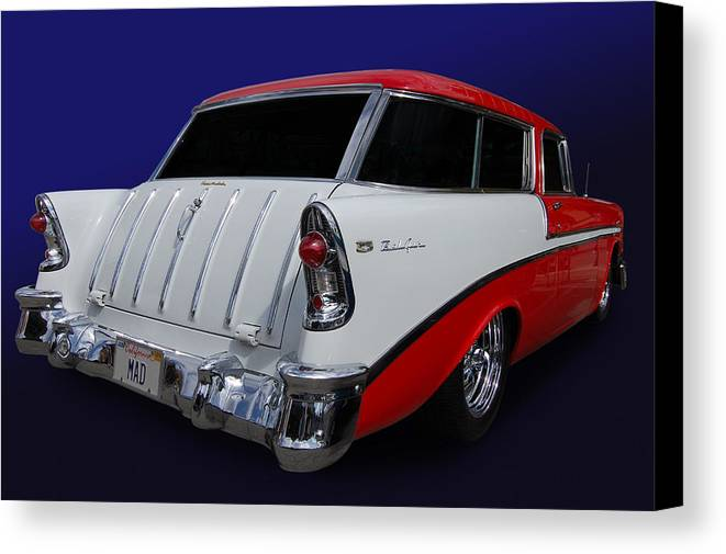 Chevrolet Canvas Print featuring the photograph 56 Nomad by Bill Dutting