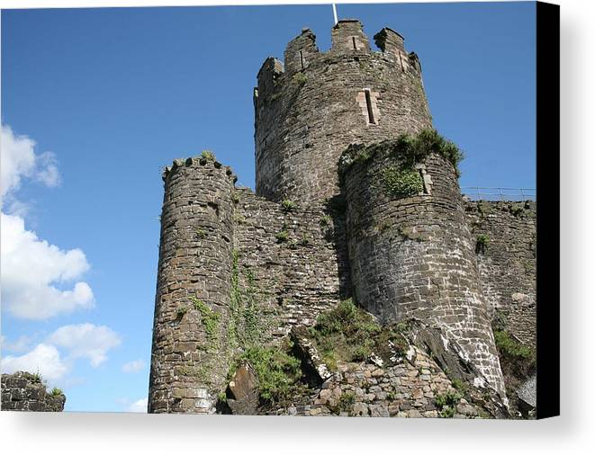 Castles Canvas Print featuring the photograph Conwy Castle by Christopher Rowlands