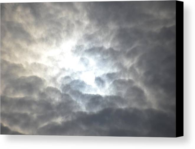 Clouds Sun Landscape Canvas Print featuring the photograph Clouds by Frank Conrad