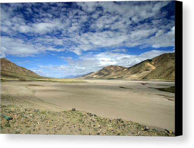 Blue Sky Canvas Print featuring the photograph Beautiful Landscape by Nelson Peng