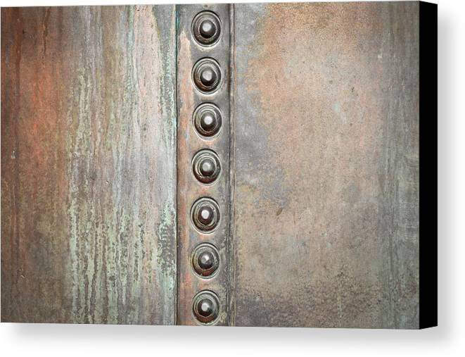 Abstract Canvas Print featuring the photograph Metal Background by Tom Gowanlock