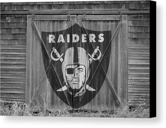 Oakland Raiders Canvas Print Canvas Art By Joe Hamilton