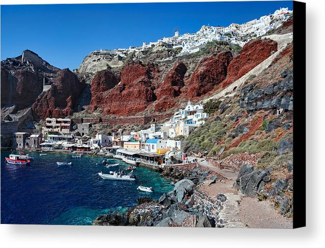 Aegean Canvas Print featuring the photograph Santorini - Greece by Constantinos Iliopoulos