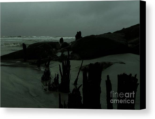 Beach Canvas Print featuring the photograph A Cloudy Day by Jesse Hanson