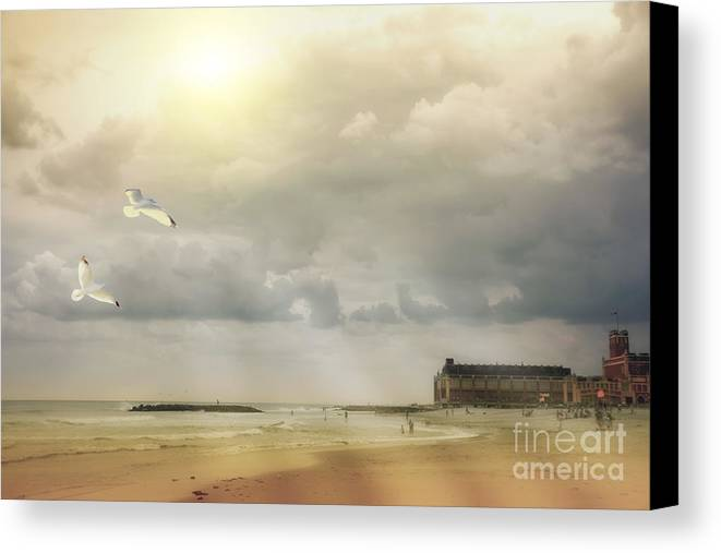 Seascape Photography Canvas Print featuring the photograph A Day At The Beach by Tom York Images