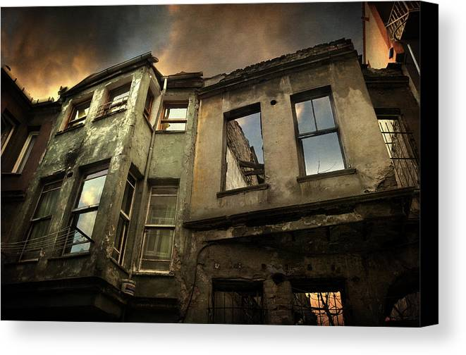 Balat Canvas Print featuring the photograph A Day In Balat by Taylan Apukovska