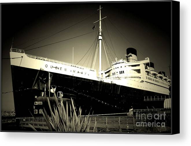 Canvas Print featuring the photograph A Large Old Ship by Amy Delaine