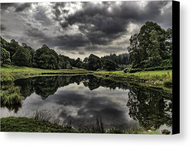 Landscape Canvas Print featuring the photograph A Moments Peace by Graham Roberts