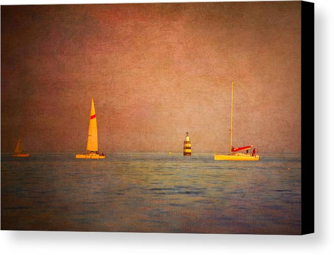 Loriental Canvas Print featuring the photograph A Perfect Summer Evening by Loriental Photography